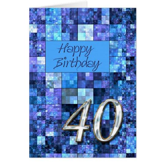 40.o Tarjeta de cumpleaños con los cuadrados