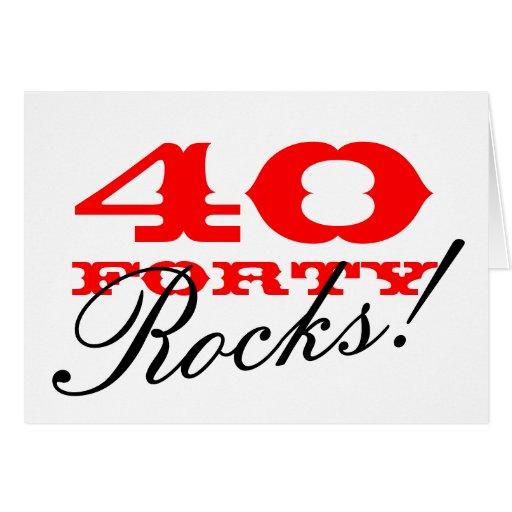 40.o ¡Tarjeta de cumpleaños el | 40 rocas!
