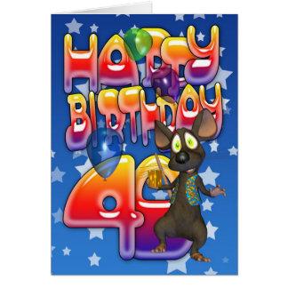 40.o Tarjeta de cumpleaños, feliz cumpleaños