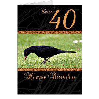 40 o Tarjeta de cumpleaños - mirlo