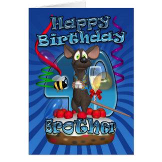 40.o Tarjeta de cumpleaños para Brother - ratón en