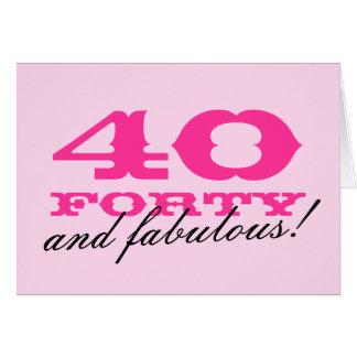 40.o Tarjeta de cumpleaños para las mujeres el |