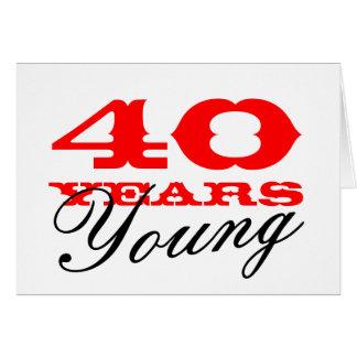 40.o Tarjeta de cumpleaños por 40 años de hombres
