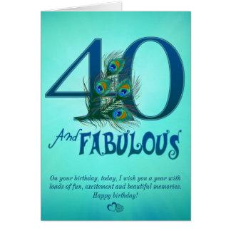 40.o Tarjetas de la plantilla del cumpleaños