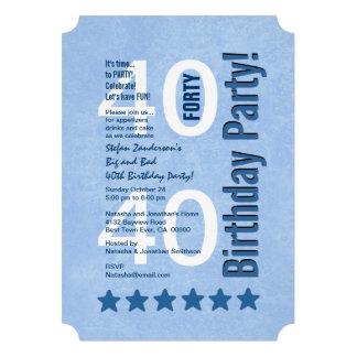 40.o Vertical moderna de la fiesta de cumpleaños c Comunicado Personalizado