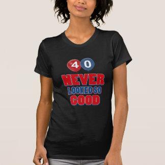 40.os diseños años del cumpleaños camiseta