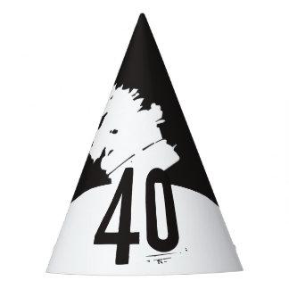 40 para un 40.o cumpleaños gorro de fiesta