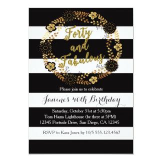 40 y 40.a invitación fabulosa del cumpleaños
