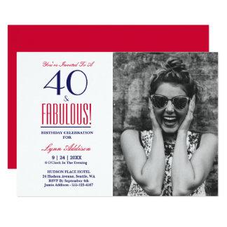¡40 y fabuloso! 40.o Invitación de la fiesta de