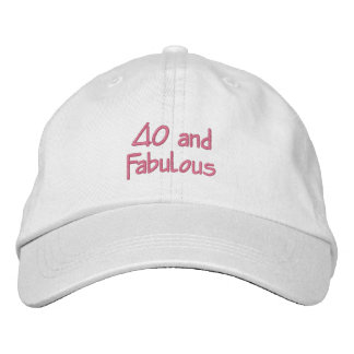 40 y fabuloso gorra bordada