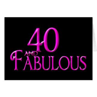40 y fabuloso tarjetas