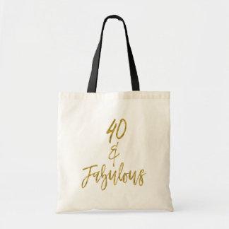 40 y la bolsa de asas fabulosa del cumpleaños de