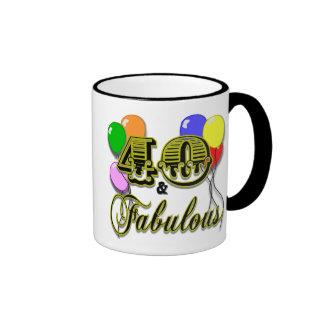 40 y regalos y ropa fabulosos de cumpleaños tazas de café