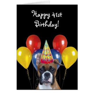 41.a tarjeta de felicitación feliz del perro del