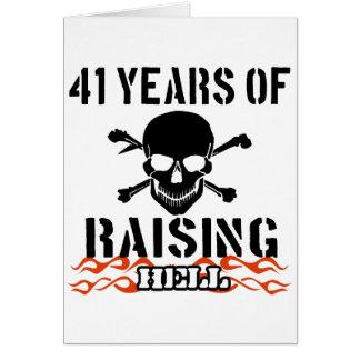 41 años de infierno de aumento tarjeta de felicitación