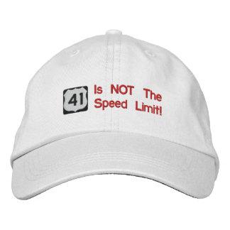 41 no es el gorra del límite de velocidad
