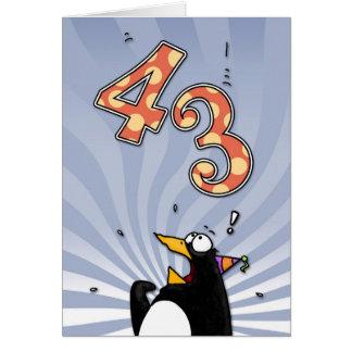 43.o cumpleaños - tarjeta de la sorpresa del