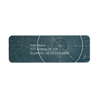 44,4 grados - carta del vintage etiqueta de remite