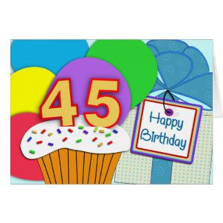 45.a tarjeta de cumpleaños feliz