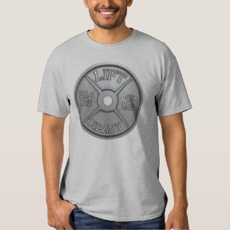 45 libras de placa del Barbell - LEVANTE PESADO Camiseta