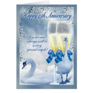 45.o aniversario - aniversario del zafiro tarjeta de felicitación