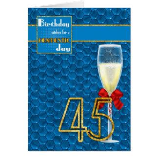 45.o cumpleaños - tarjeta de cumpleaños geométrica