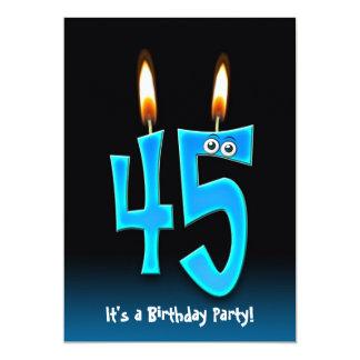 45.o Fiesta de cumpleaños Invitación 12,7 X 17,8 Cm