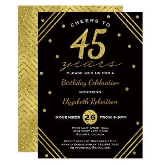 45.o Invitación de la fiesta de cumpleaños,