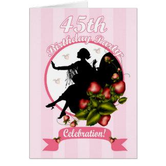 45.o Invitación de la fiesta de cumpleaños Tarjeta De Felicitación