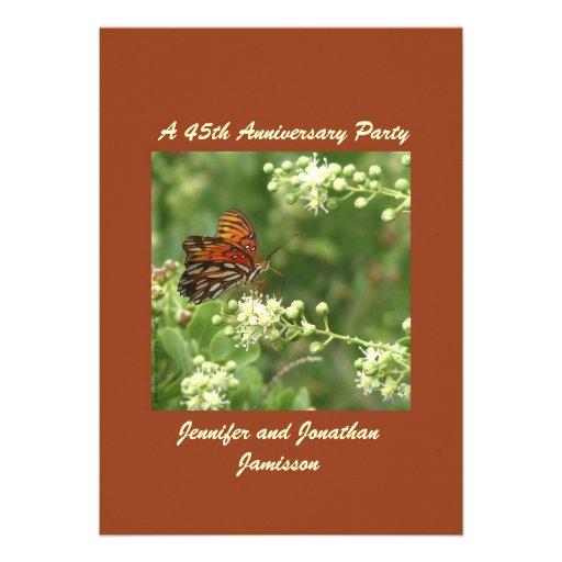 45.o Mariposa de la invitación de la fiesta de ani