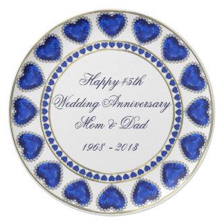 45.o Placa de la melamina del aniversario de boda Plato