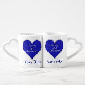 45.o Regalos del aniversario de boda para los Set De Tazas De Café