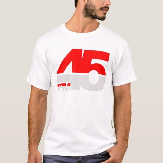 45 RPM - Disc jockey de la placa giratoria del Camiseta