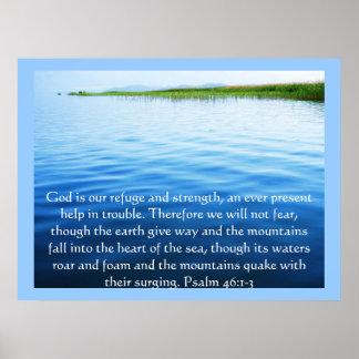 46:1 del salmo - dios 3 es nuestro POSTER del refu Póster