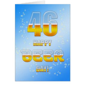 46.a tarjeta de cumpleaños del día feliz de la