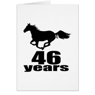 46 años de diseños del cumpleaños tarjeta