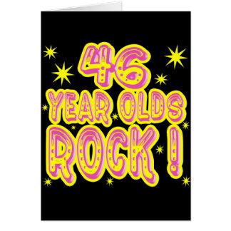 ¡46 años de la roca! Tarjeta de felicitación