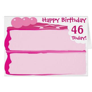 46.o cumpleaños feliz tarjeta