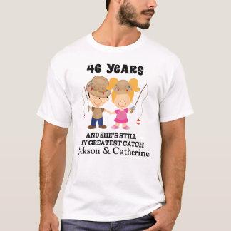 46.o Regalo de encargo del aniversario para él Camiseta