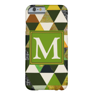 #475 abstracto con monograma funda barely there iPhone 6