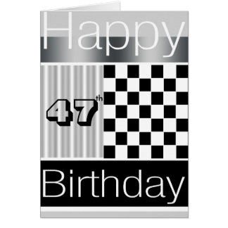 47.o Cumpleaños Tarjeta De Felicitación