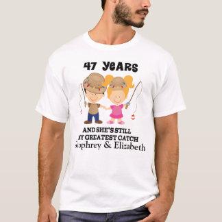 47.o Regalo de encargo del aniversario para él Camiseta