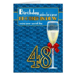 48.a tarjeta de cumpleaños del cuñado - Champán Gl