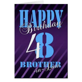 48.a tarjeta de cumpleaños del cuñado - moderna