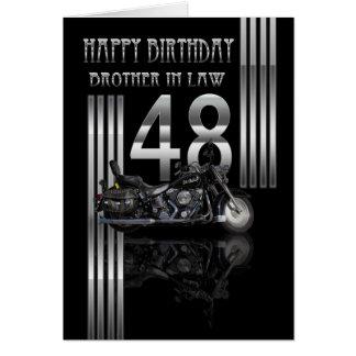48.a tarjeta de cumpleaños del cuñado - moto
