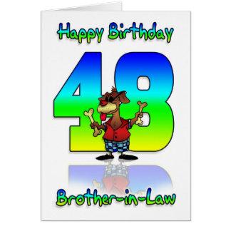 48.a tarjeta de cumpleaños del cuñado - perro con