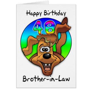 48.a tarjeta de cumpleaños del cuñado - perro del