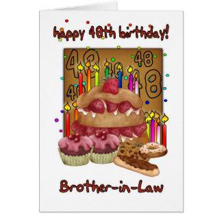 48.a tarjeta de cumpleaños del cuñado - tortas de