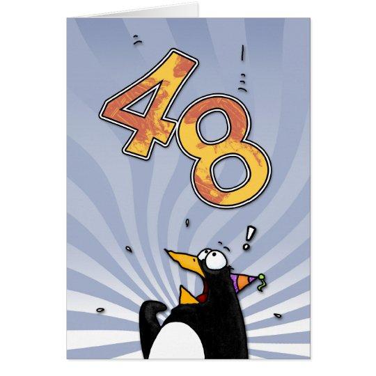 48.o cumpleaños - tarjeta de la sorpresa del