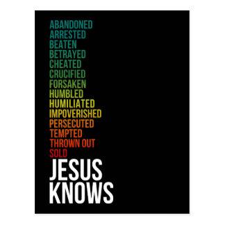 4:15 de los hebreos - Jesús sabe Postal
